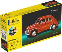 Maquette voiture de collection : Renault 4 CV - 1:43 - Heller 56174