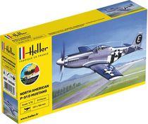 Maquette avion militaire : Mustang P-51 - 1:72 - Heller 56268