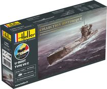 Maquette sous-marin : Starter Kit U-Boot Type VII C - 1:400 - Heller 57002