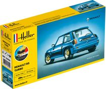 Maquette voiture de collection : Starter kit Renault R5 Turbo - 1/43 - Heller 56150