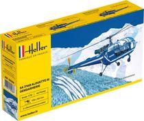 Maquette hélicoptère : SA 316 Alouette III Gendarmerie - 1:72 - Heller 80286