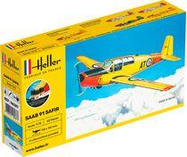 Maquette avion : Saab Safir 91 - 1:72 - Heller 56287