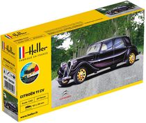Maquette voiture de collection : Citroën 11 CV - 1:43 - Heller 56159
