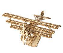 Puzzle 3D / Maquette bois Avion triplan - Robotime