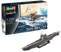 Maquette de navire militaire : Sous-marin allemand Type VII C/41 - 1:350 - Revell 5154