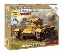 Maquette militaire : Tank Britannique Valentine II - 1/100 - Zvezda 6280 06280