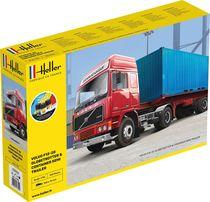 Maquette de camion : Volvo F12-20 G.T.1 & container semi - 1/32 - Heller 57702