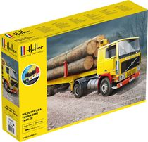 Maquette de camion : Volvo F12-20 G.T.1 & Timber Semi Trailer - 1/32 - Heller 57704