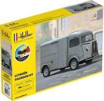 Maquette voiture de collection : Coffret CITROËN FOURGON HY - 1/24 - Heller 56768