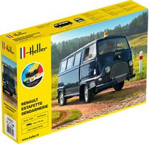 Maquette voiture Starter Kit Renault Estafette gendarmerie - 1:24 - Heller 56742
