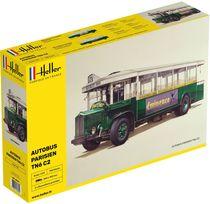Maquette bus : Autobus parisien TN6 C2 - 1/24 - Heller
