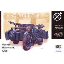 Maquette moto : Bmw R75 Side Car allemand - 1:35 - Masterbox 03528