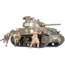 Maquette militaire : Char d'assaut US Sherman M4A3 75 mm - Tamiya 35250