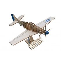 Maquette en bois avion : Art&Wood: North American P51 Mustang - Artesania Latina 30216