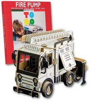 Maquette en carton à construire : Camion incendie - Todo 3DCFP6004 - france-maquette.fr