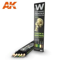 Watercolor pinceaux Set Green And Brown Camouflages - Ak Interactive AK10040