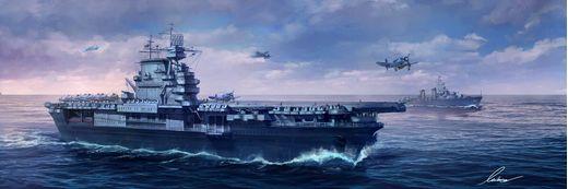 Maquette de bateau : U.S. Navy Aircraft Carrier U.S.S. Enterprise (CV-6) - 1/700 - Meng PS-005