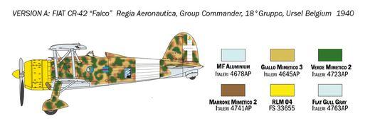 Maquette avion : FIAT CR.42 Falco - 1/72 - Italeri 01437 1437 - france-maquette.fr