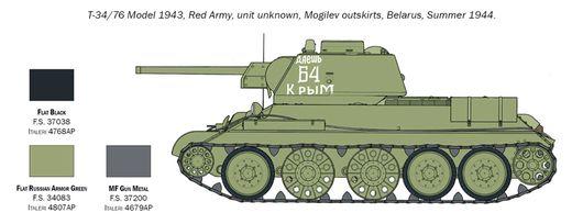 Maquette militaire : T-34-76 Modèle 1943 - 1:72 - Italeri 07078 7078 - france-maquette.fr