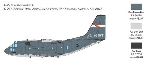 Maquette avion militaire : C-27A/J Spartan - 1:72 - Italeri 1450 01450