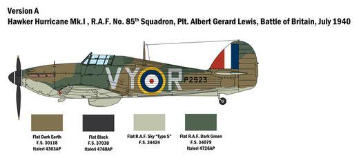 Maquette avion militaire : Hurricane Mk.I - 1/48 - Italeri 02802 2802 - france-maquette.fr
