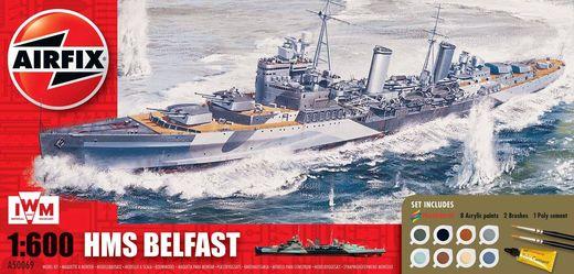 Maquette vaisseau : HMS Belfast - 1:600 - Airfix 50069 050069
