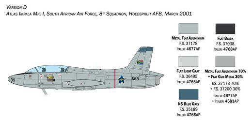 Maquette avion militaire : Aermacchi MB 326 ‐ 1:48 - Italeri 2814 02814