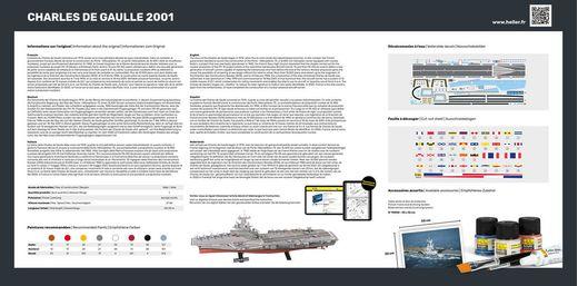 Maquette Porte-avions Charles de Gaulle 2001 - 1/400 - Heller 81072