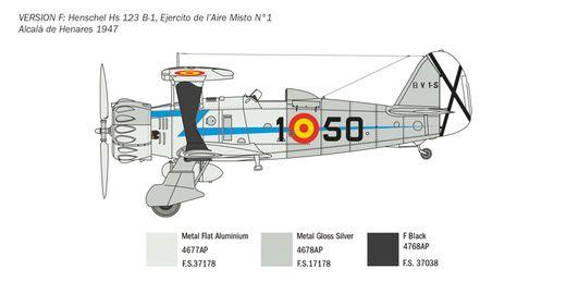 Maquette avion militaire : Henschel Hs123 ‐ 1:48 - Italeri 2819 02819