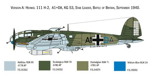 Maquette avion : Heinkel HE111H - 1/72 - Italeri 01436 1436- france-maquette.fr