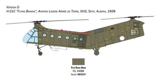 Maquette hélicoptère : H-21C Gunship - 1/48 - Italeri 2774 02774