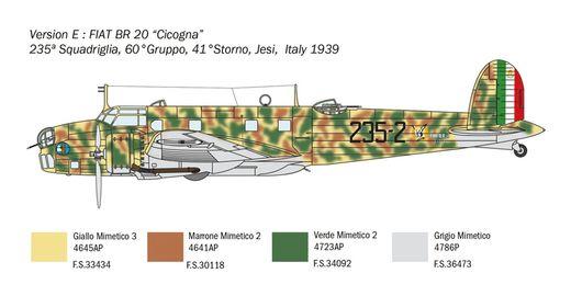 Maquette avion militaire : FIAT BR.20 Cigogna Bataille Angleterre - 1:72 - Italeri 01447 1447