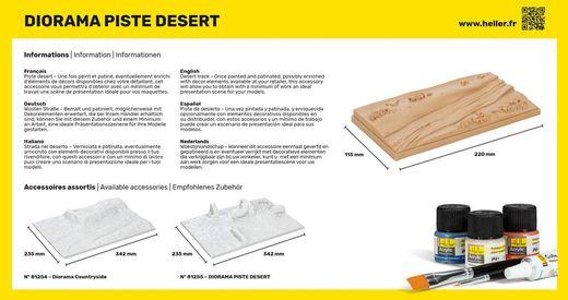 Diorama d'une pisteen plein désert - 1/43 - Heller 81253