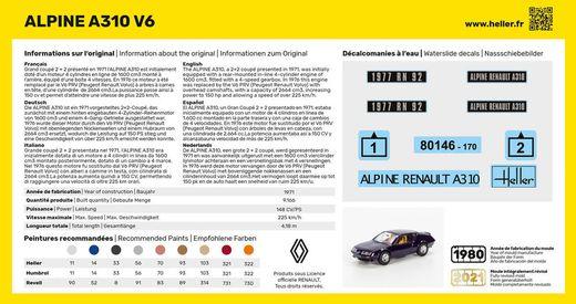 Maquette voiture : Alpine A310 - 1/43 - Heller 80146