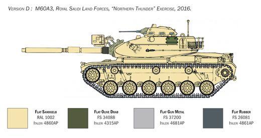 Maquette militaire : M60A3 - 1:35 - Italeri 06582 6582 - france-maquette.fr