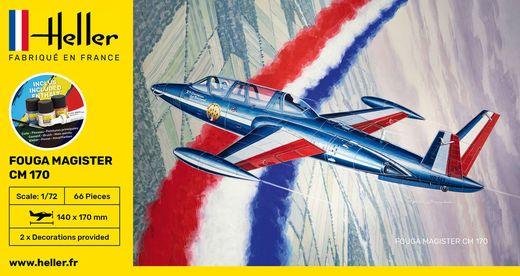 Maquette avion : Starter Kit Fouga Magister CM 169 - 1:72 - Heller 56220