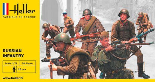 Figurines militaires : Infanterie russe - 1/72 - Heller 49603