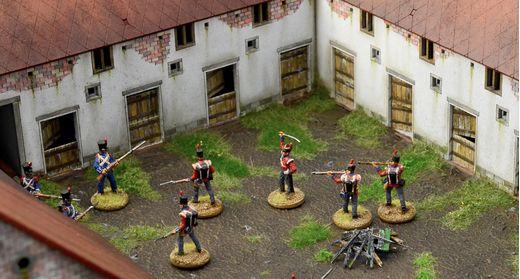 Diorama bataille militaire : Waterloo 1815 La Haye Sainte - 1/72 - Italeri 6197 06197