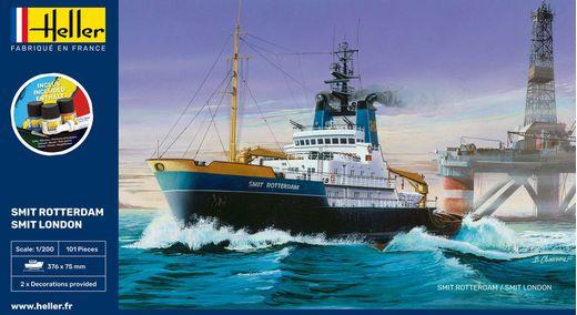 Maquette bateau : Starter Kit Smit Rotterdam - 1:200 - Heller 56620