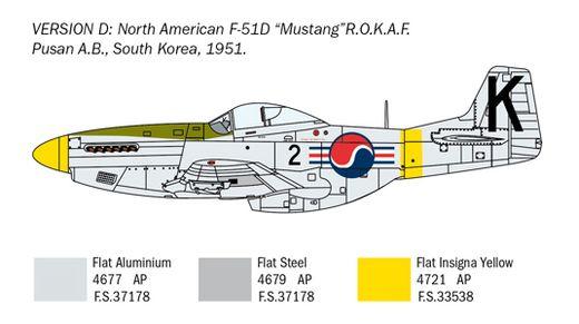 Maquette avion militaire : F‐51D Mustang « Guerre de Corée » - 1:72 - Italeri 1452 01452