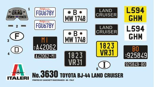 Maquette voiture : Toyota Land Cruiser BJ-44 - 1:24 - Italeri 3630 03630