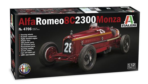 Maquette voiture de collection : Alfa romeo 8C 2300 Monza - 1:12 - Italeri 04706