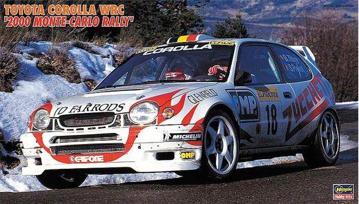 Maquette voiture : Toyota Corolla WRC, 2000 Monte Carlo Rally - 1/24 - Hasegawa 620396