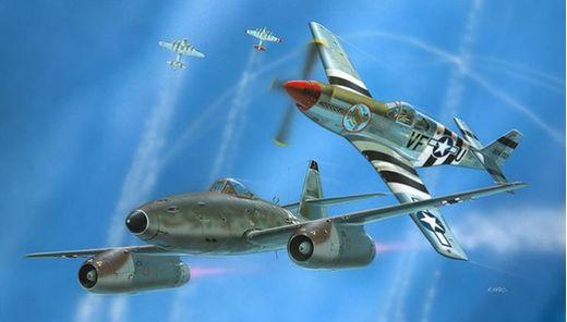 Maquette avion : Model Set Combat Set Me262 & P-5 - 1:72 - Revell 63711
