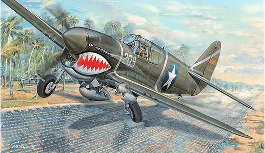 Maquette avion : P-40F War Hawk - 1:32 - Trumpeter 753227