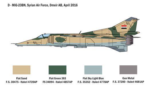 Maquette avion moderne : MiG‐23 MF/BN Flogger - 1:48 - Italeri 2798 02798
