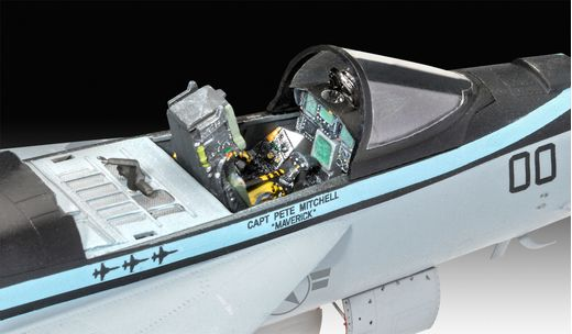 "Maquette avion : F/A-18E Super Hornet ""Top Gun"" - 1:48 - Revell 03864, 3864 - france-maquette.fr"