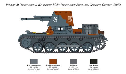 Maquette militaire : Panzerjäger I - 1/35 - Italeri 6577 06577Maquette militaire : Panzerjäger I - 1/35 - Italeri 6577 06577