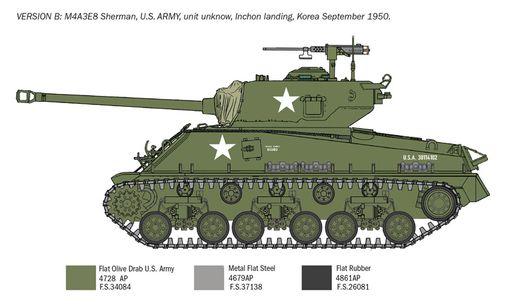 Maquette militaire : M4A3E8 Sherman Guerre de Corée - 1:72 - Italeri 6586 06586