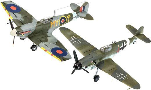 Model Set Combat Set Bf109G-10 & Spitfire Mk V - 1:72 - Revell 63710